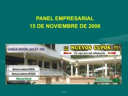 panel empresarial