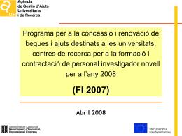 JORNADES DOCTORIALS 2008