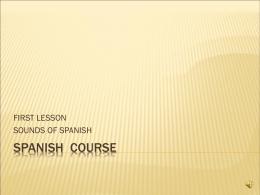 Spanish Lesson - Sounds of Spanish
