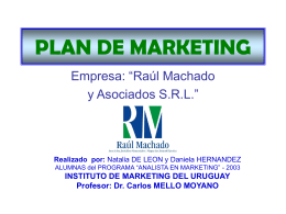 PLAN DE MARKETING- Daniela y Natalia