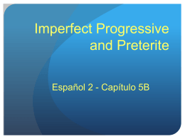 Imperfect progressive PPT