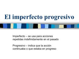 El Imperfecto Progresivo - Que paso en la clase de espanol con Sra