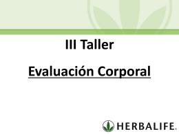 Taller III Evaluacion Corporal (MX)