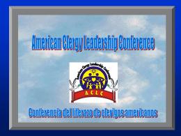 Conferencia a los clerigos Americanos