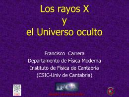 ppt - Grupo de Astronomía de Rayos X