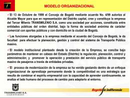 modelo organizacional planeamiento del sistema de transporte