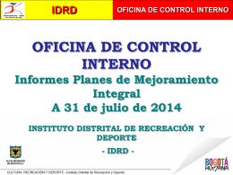 idrd oficina de control interno
