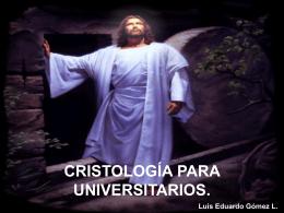 CRISTOLOGÍA PARA UNIVERSITARIOS.