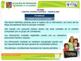 Presentación Informe de Control Interno Contable 2008.