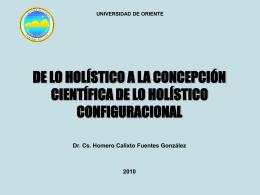 MÉTODO HOLÍSTICO DIALÉCTICO Revela las