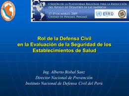 Rol de la Defensa Civil en la Evaluación de la Seguridad de los