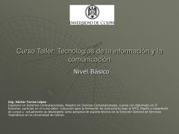 Curso Taller: Tecnologías de la información y la comunicación