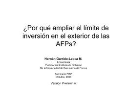¿Por qué ampliar el límite de inversión en el exterior de las AFPs?