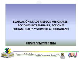 EVALUACION DE RIESGOS INTRAMURALES 2014