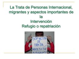 ponencia trata de persona internacional intervención