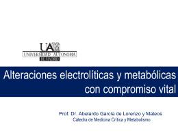 Electrolitos y Alt. Metabólicas