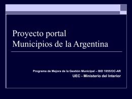 Proyecto portal municipios de la Argentina