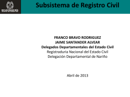 Subsistema de Registro Civil