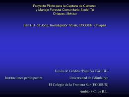proyecto piloto para la captura de carbono y maneforestal