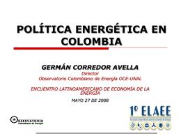 Potencialidades y Perspectivas Energéticas de Colombia
