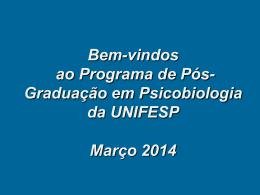 Programa de Pós-graduação em Psicobiologia