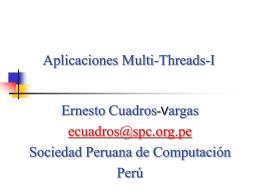 Aplicaciones-Multi-T.. - Sociedad Peruana de Computación