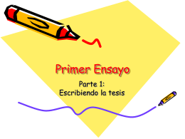 Basic Essay Structure - DPS Teaching with CI
