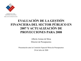 Evaluación de la gestión financiera del Sector Público en 2007 y