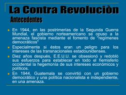 historia inmediate-La contra revoluciòn