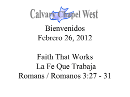 My Redeemer Lives - Calvary Chapel West