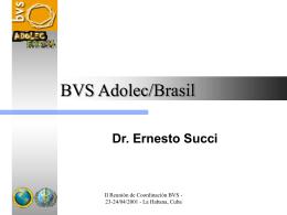 Desarrollo de la BVS Adolec/Brasil