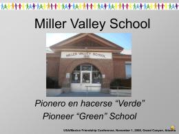 """Pionero en hacerse """"Verde"""" Pioneer """"Green"""" School"""
