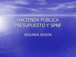 Hacienda Pública sesión 2