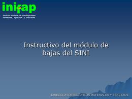 Modulo_bajas - Instituto Nacional de Investigaciones Forestales