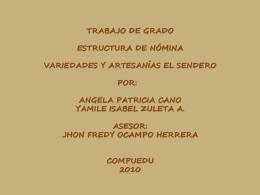 Diapositivas de Artesanias El Sendero