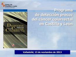 2013-10-31 Presenación extensión programa prevención cáncer