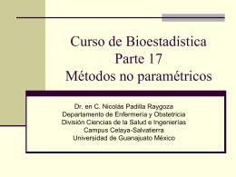 Curso de BioestadísticaParte 17Métodos no paramétricos