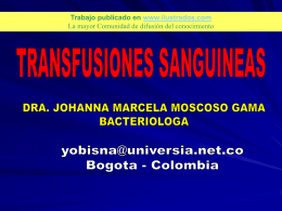 Transfusiones sanguineas