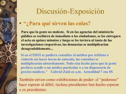 Discusión-Exposición (Pedro)