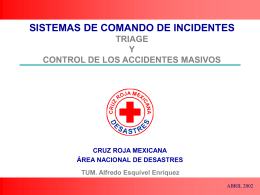 triage y control del accidente masivo
