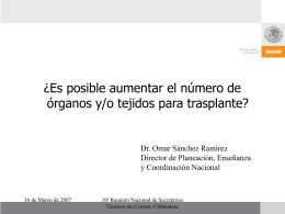 Presentación de PowerPoint - Centro Nacional de Trasplantes