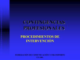 Gestión de Contingencias - Federación de Servicios a la Ciudadanía