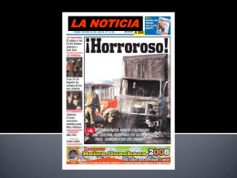 LA NOTICIA - CONTINTAROJA.CL