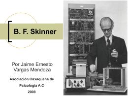 Biografía B.F. Skinner