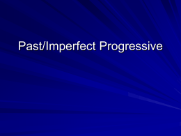 Past Progressive - rykovichspanish