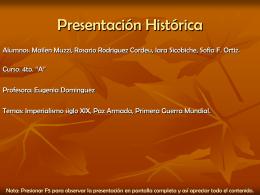 Presentación Histórica