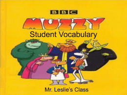 Muzzy: Lesson 1 and 2