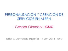 personalizacion y creacion de servicios en aleph