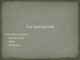 Clase 5: La narración