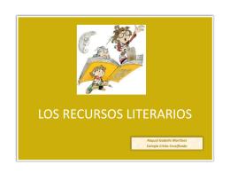 LOS RECURSOS LITERARIOS - Colegio Cristo Crucificado